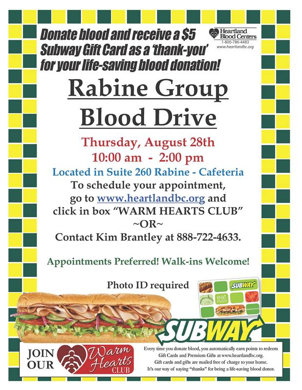 Rabine Group Blood Drive Information